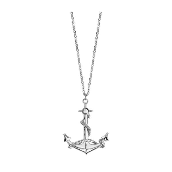 Collier Argent 925 Pendentif Ancre Marine