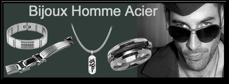 80bbff64c8be9 Bijoux Homme Acier - Bijouterie La Perle d Argent