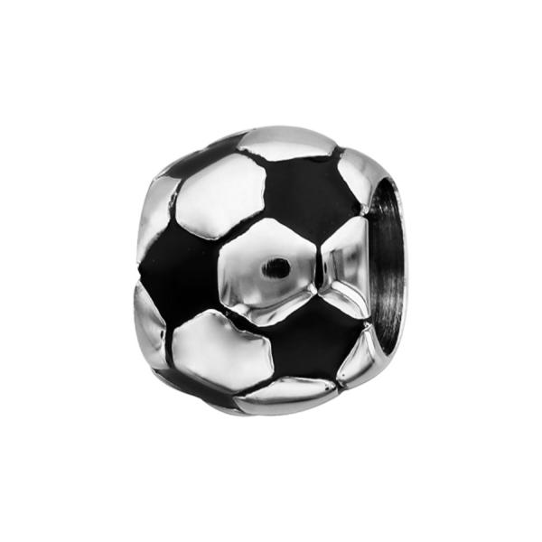Charms Acier 316L Ballon de Foot Patiné
