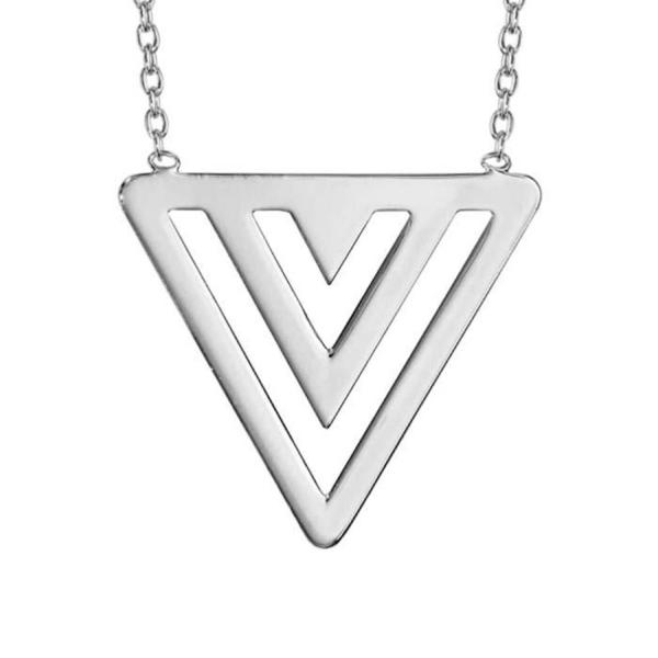 Collier Argent 925 Forme 3 Triangles