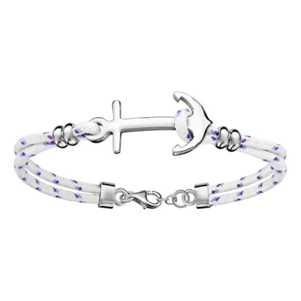 bracelet ancre femme blanc