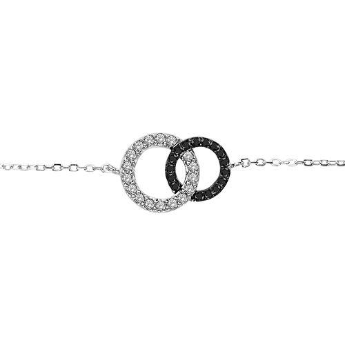 bracelet argent double cercles