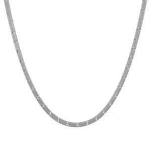 Collier Argent 925 Maille Plate Motif Etoiles