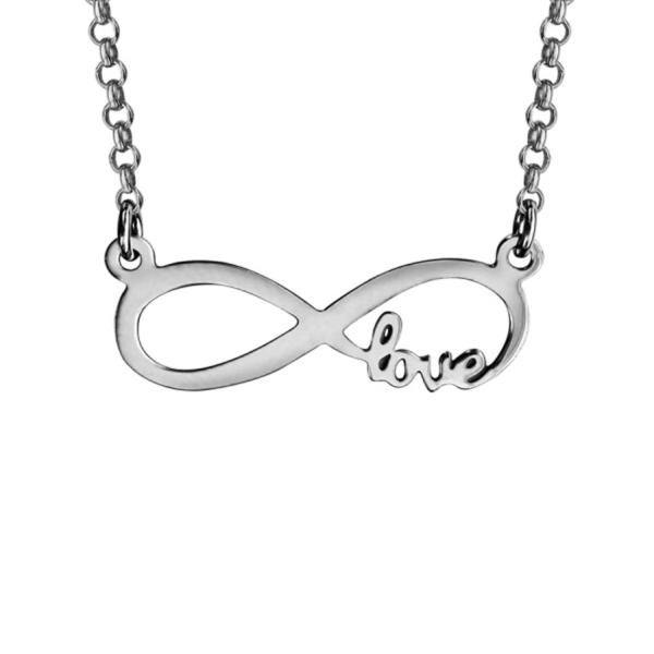 "Collier Argent 925 Infini ""Love"""
