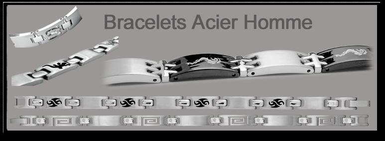 Bracelet Homme Acier Carbone Bracelets Homme Tout Acier