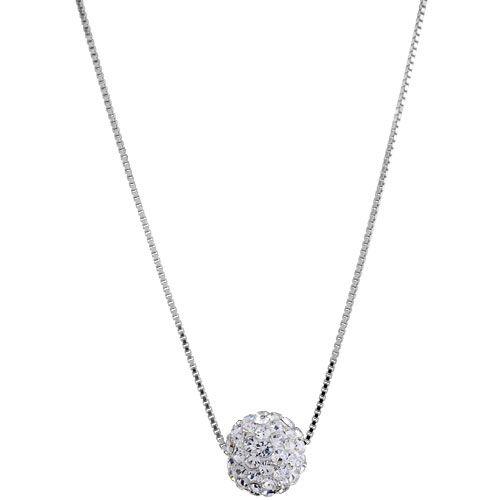 a3cfaf1fa08 Collier + Pendentif Argent 925 et Zirconium Petite Boule Blanc