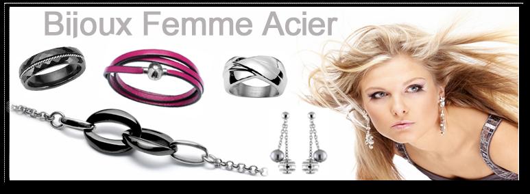 site réputé 8d68c 81ace Bijoux Acier Femme