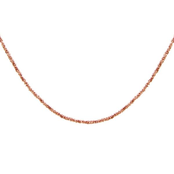 Collier Argent 925 Maille Margarita 1 mm Dorure Rose
