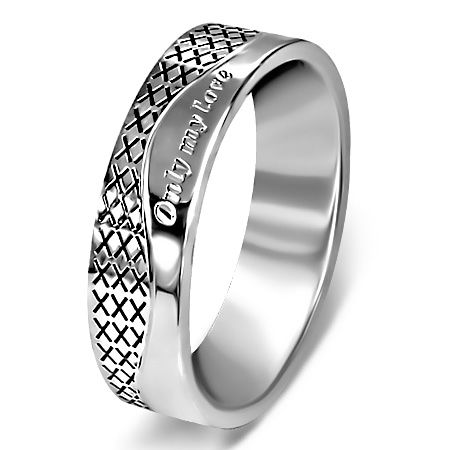 Bague Acier 316 L Message Only my Love