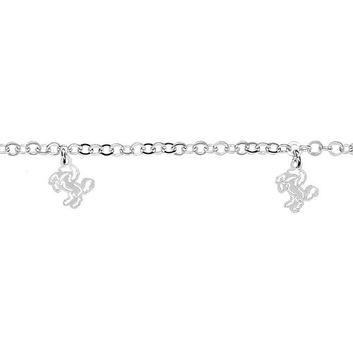 Bracelet Argent 925 5 Pampilles Charms Cheval