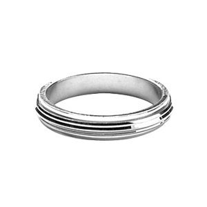 Bague Alliance Argent 925 Anti-Stress Striée 4 mm
