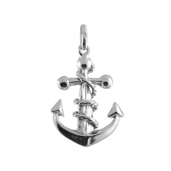 Pendentif Argent 925 Grosse Ancre Marine