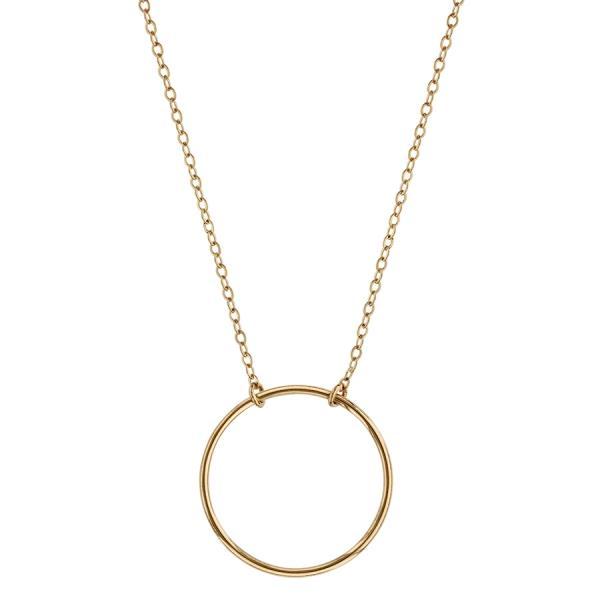 collier femme avec anneau