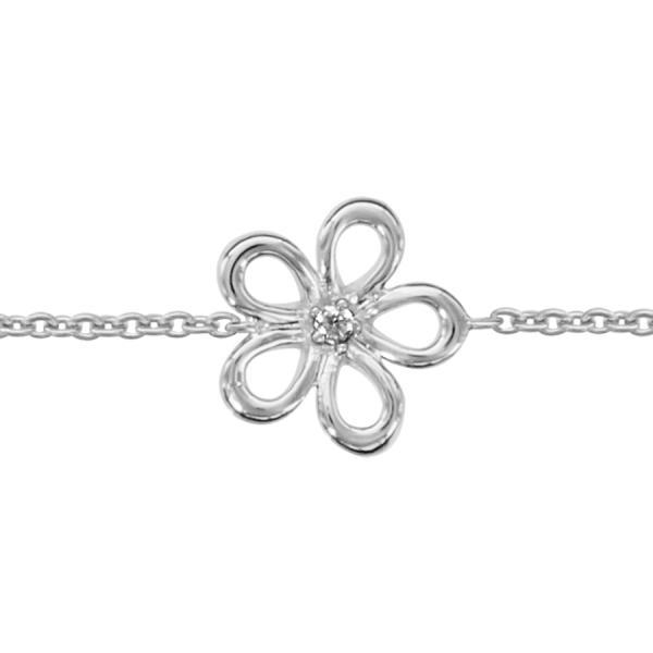 bracelet argent fleur