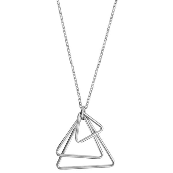 Collier Argent 925 3 Triangles